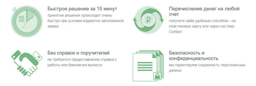 Преимущества МФО ГлавФинанс