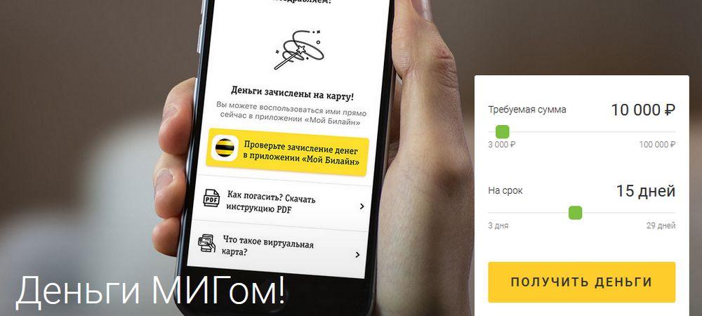 Онлайн заявка на сайте МигКредит