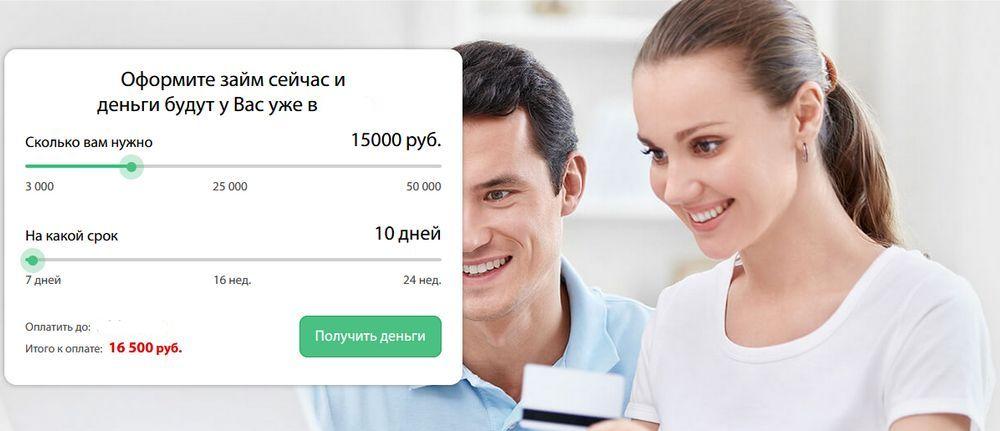 Онлайн форма для подачи заявки на займ
