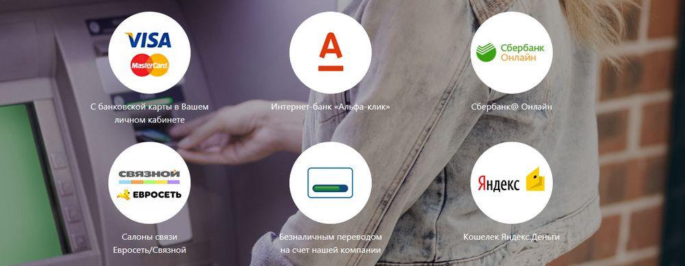 Способы оплаты кредита в Турбозайм